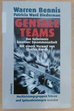 Geniale Teams - Warren Bennis 1998 Wirtschafts Karriere Buch Bücher