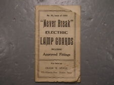 Antique 1909 Never Break Electric Lamp Guard Catalog Trouble Light Bulb Cage Old