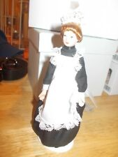 MAID DRESSED IN BLACK FOR A DOLLS HOUSE