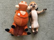 Disney Timon And Pumbaa (Pumba) Plush The Lion King Disneyland Paris