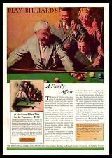 1929 Brunswick Junior Playmate Billiard Pool Table M. Leone Bracker Art Print Ad