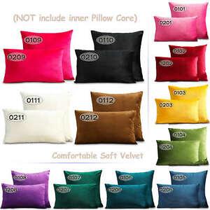 Kinds Soft Velvet Cushion Cover Pillows Case Living Room Sofa Throw Decoration
