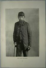 "STREET TYPES OF AMERICAN CITIES: ""The Old Soldier"", photo, 1896. (#18)"