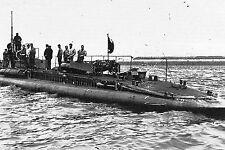 "WW1 - Sous-marin ""Ventôse"" à l'appareillage à Cherbourg"