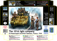 Master Box 35164 101th light company. US Paratroopers and British Tankman 1/35