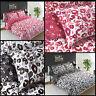Animal Leopard Print Reversible Quilt Duvet Cover with Pillow Case Bedding Set