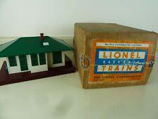 LIONEL No.132 ILLUMINATED STATION w/ Automatic Train Control & Box TESTED O O27