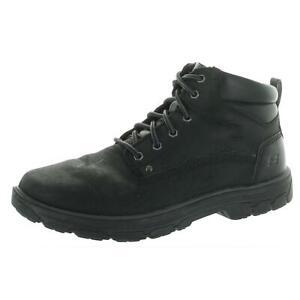 Skechers Mens Segment - Garnet Black Ankle Boots 10.5 Extra Wide (EE) BHFO 0683
