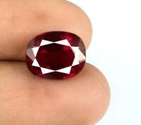 Ovale rouge de Birmanie Ruby 6-8 Ct Gemstone 100% naturel VS clarté certifié