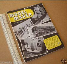 Model Maker Retro Hobby Mag RTP Cars, Boats, Yachts, Railways Jan 1955 Vintage