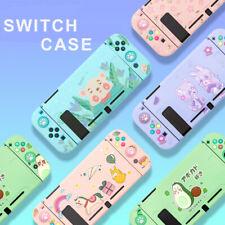Kawaii Cut TPU Case Cover for Nintendo Switch Console Jon-Cons Pink Purple Green