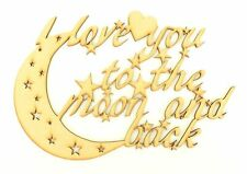 Love You To The Moon and Back Mdf Sign//Quote//Plaque 20cm  WC1135