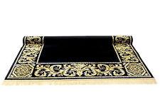 Teppich Kunst Seide Mäander Meander Medusa Schwarz 100cm x 140cm Carpet versac