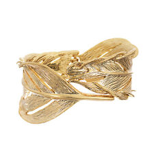 Chloe + Isabel Sculpted Feather Hinged Cuff Bracelet B085G - Discontinued