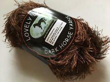 Dark Horse Yarns Lovely Lash #210 Chocolate Brown Eyelash Yarn 50 Gram 92 Yards