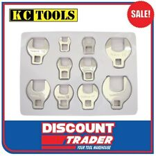"KC Tools 10 Piece 3/8"" Drive Metric Crows Foot Spanner Set - 10187"