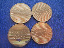 4 X SECURITY GOLD COLOURED TOKENS LONDON EUROCOINS COINS