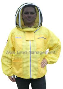 🐝Bee Jacket 3 Layer Ultra Ventilated Yellow Beekeeping Jacket