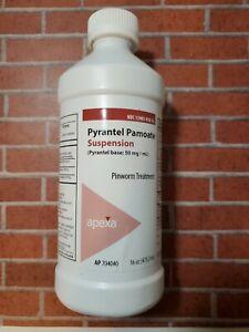 Pyrantel Pamoate Suspension 16 oz (Pint) Dewormer 50mg/ml Sealed Expires 10/2021