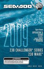 Sea-Doo Owners Manual Book 2009 230 CHALLENGER & 230 WAKE