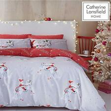 Christmas Unicorn Easy Care Single Duvet Set Grey