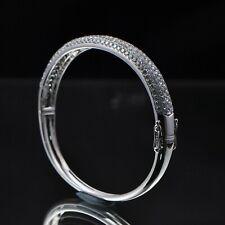 Solid 14kt 585 White Gold Natural Diamond Fashion Bracelet