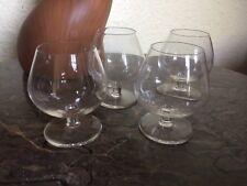 4 Verres à cognac en cristal transparent SAINT LOUIS