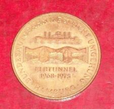 ELBE RIVER HAMBURG GERMANY GERMAN COIN ELBTUNNEL BRIDGE AUTOBAHN COIN MEDAL 1975