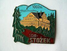 Pin badge button Hiking Tourist Climbing mountain hostel Stozek Poland