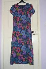Monsoon Viscose Round Neck Floral Dresses for Women
