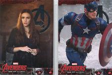 Marvel Avengers Age of Ultron Base Parallel Silver Foil Complete 90 Card Set