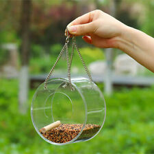 Round/Triangle Wild Bird Feeder Toy Cage Outdoor Garden Plant Food Tree Hanging