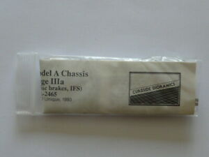 UNOPENED CURBSIDE DIORAMICS 1:24 FORD MODEL A STREET ROD CHASSIS STAGE IIIA
