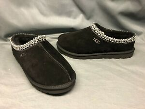 UGG Men's Tasman Slippers Suede Upper Wool Lining Slip-On Black Size 10 NEW!