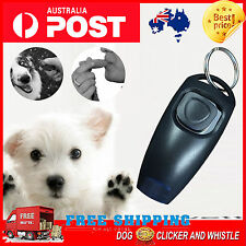 Black Dog Pet Puppy Cat Training Clicker Whistle Click Trainer Obedience BDC