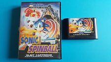 SONIC SPINBALL / jeu en boite MEGA DRIVE SEGA / Sonic the Hedgehog / PAL
