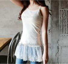 Womens Camisole Tank Shirt Extender Lace Cami Top Extender Tank Tops Slip