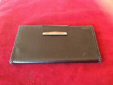 Vintage Women's  Black Leather Check Book Wallet