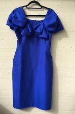 NWT Auth Alexander McQueen Wool Blue Knee-length Dress It Sz 42 US 6 8