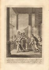 1770  ANTIQUE PRINT -BIBLE- JESUS SAW A MAN NAMED MATTHEW AND SAITH FOLLOW ME