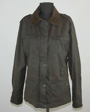 Mc Orvis womens brown waxed coat jacket Size M