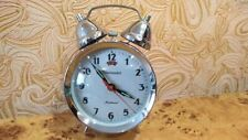 Vintage Soviet Clock Alarm Ussr Table Timemaster Mechanical Very good
