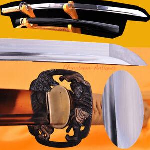 Japanese Nogawa Katana Samurai Sword Hand Forged Carbon Steel Sharp Blade #2554