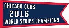 "World Series Championship Banner 8"" x 3.3"" Vinyl Decal Wrigley Field 2016 mini"