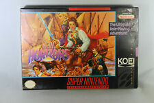 Uncharted Waters New Horizons (SNES, Game + Box + Manual)