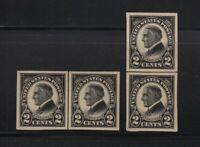 1923 HARDING imperf Sc 611 MNH line pairs set CV $40