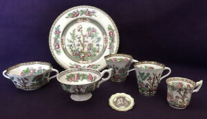 """Job Lot of COALPORT """"INDIAN TREE"""" pieces Cups, Brooch, Plate, Soup Cup"""