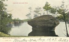 Wisconsin Dells~Trees Grow on Inkstand~Lone Rock~1907 Postcard