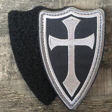 Infidel Cross Crusader Shield Navy Seals DEVGRU Military Tactical Morale Patch