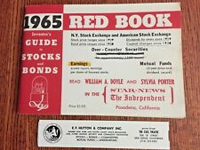 1956 Investor's Stock Yield Slide Rule & 1965 Stock/Bonds Red Book Guide INVEST
